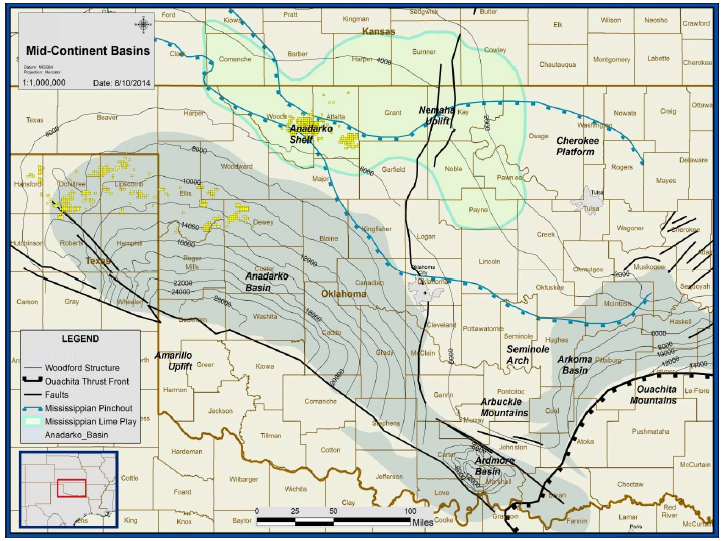 Anadarko Basin Overview - Maps - Geology - Counties
