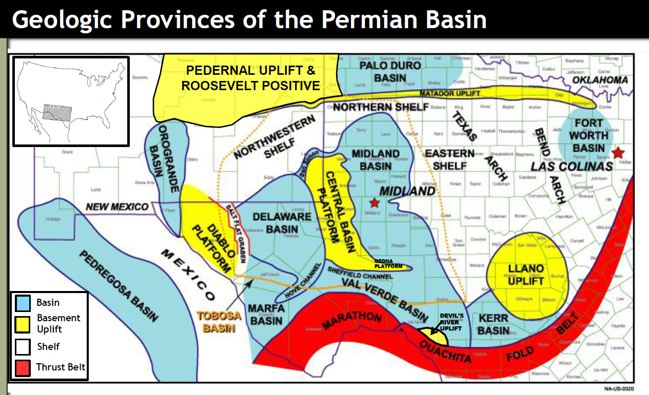 Map Of Texas Natural Resources.Permian Basin Overview Maps Geology Counties