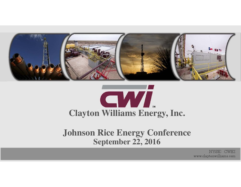 Concho Resources Eyes Takeover of Clayton Williams