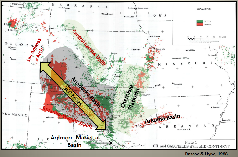 Anadarko Basin Overview Maps Geology Counties