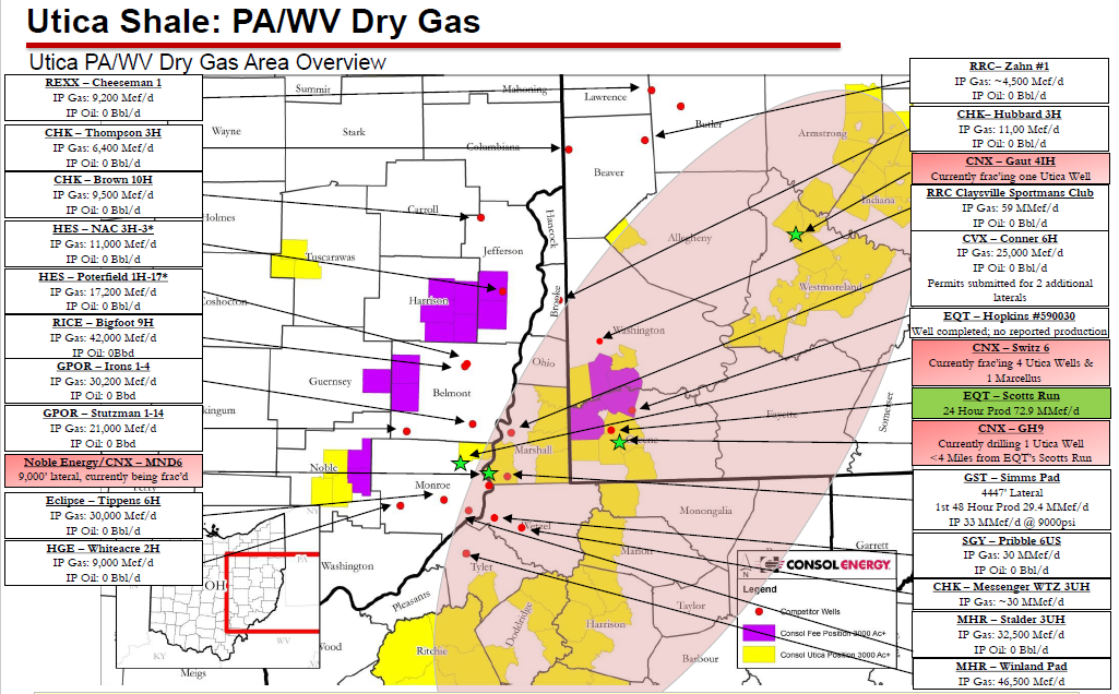Utica Shale Map Top IP Wells Discoveries - Utica shale map
