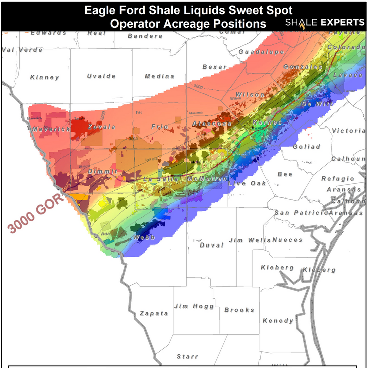 Eagle Ford Shale Map : Sweet Spot