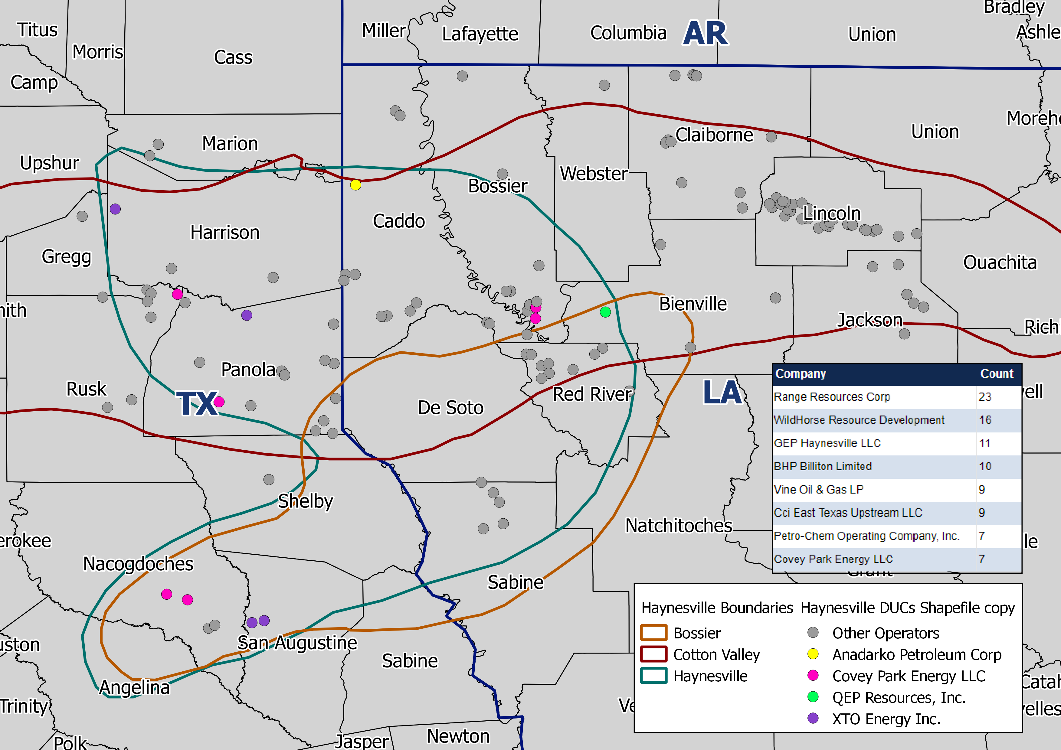 Haynesville Shale Drilled / Uncompleted (DUCs) [Count]