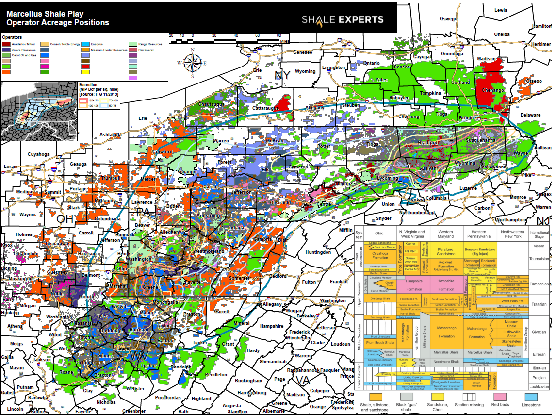 Marcellus Shale Map : Leasehold