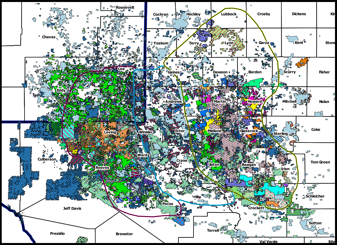 Permian Basin Operator Acreage Map